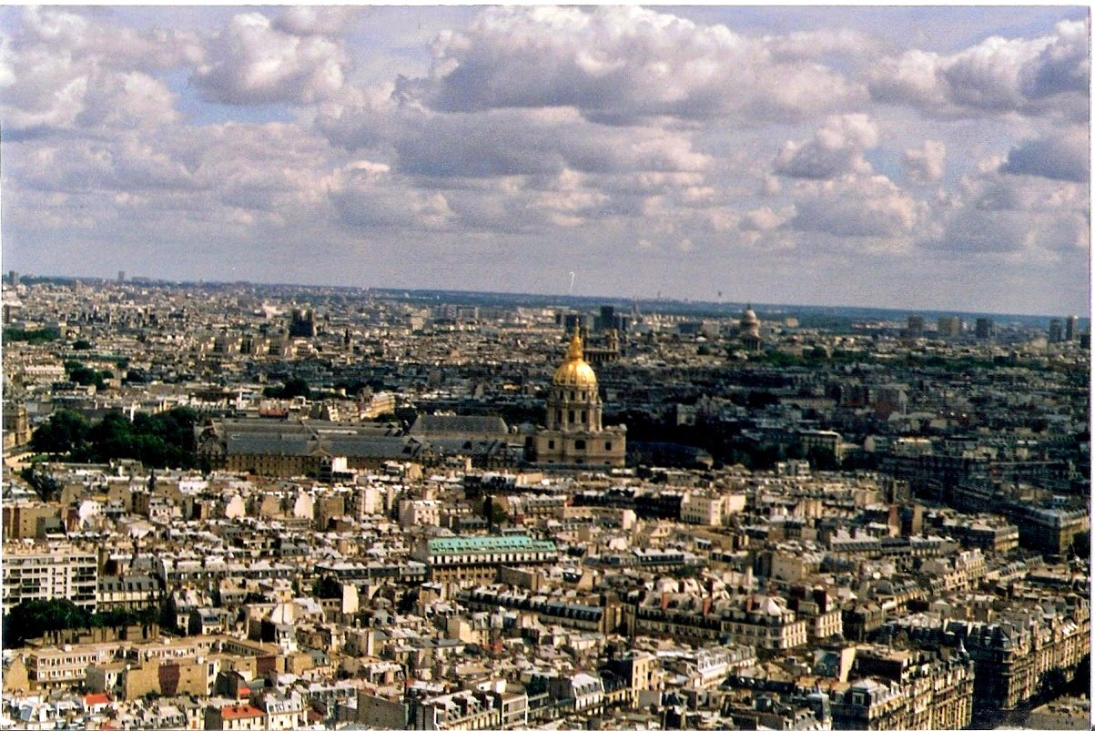 View from the top of the Eiffel Tower.Paris