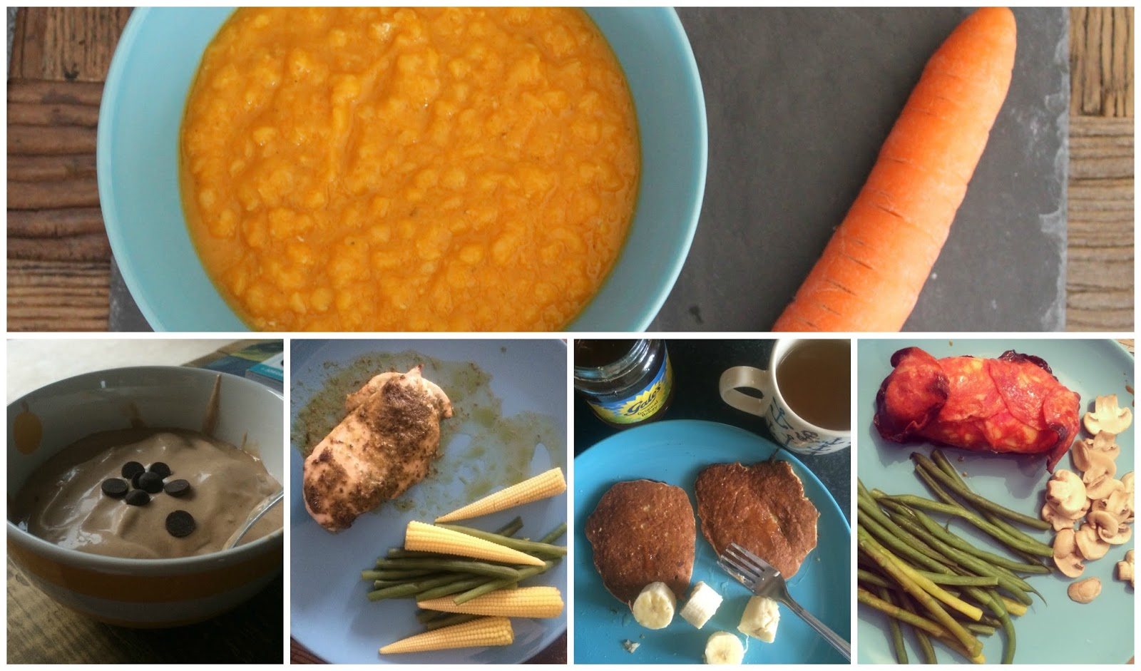 Recipes I've tried and loved - Carrot and Lentil Soup, Banana ice cream, pesto chicken