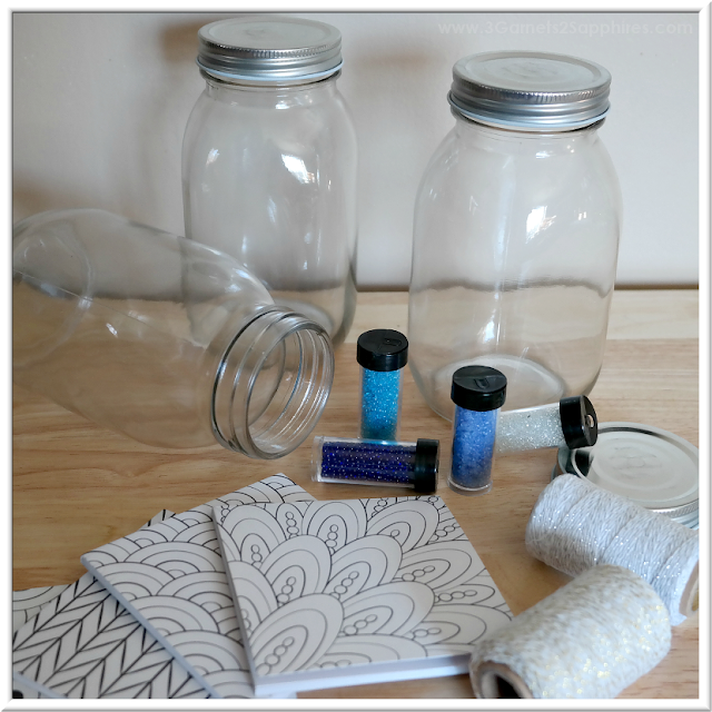 How to make 'A Year of Smiles' Mason Jar Gift  |  3 Garnets & 2 Sapphires