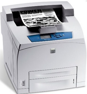 Printer Xerox Phaser 4510 DT is a sturdy and slightly wide equipped with a sophisticated control panel. The standard configuration holds 700 sheets of paper in the 550-sheet main input box and a tray c