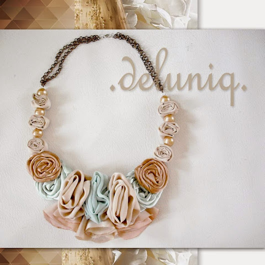 statement necklace by deluniq (kalung chic-unique)