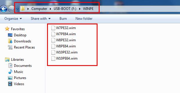 Hướng dẫn thêm Windows PE vào usb boot - usbhddboot.xyz