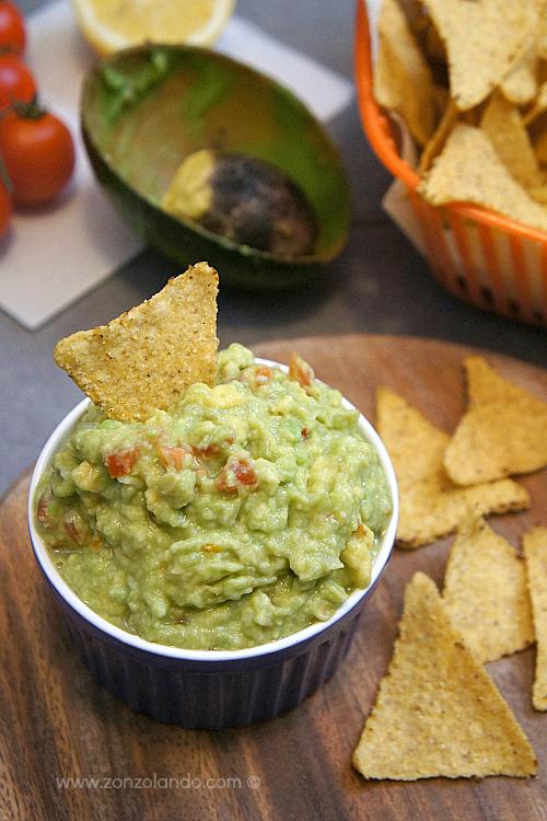 Perfect guacamole dip - salsa con avocado per aperitivi ricetta recipe