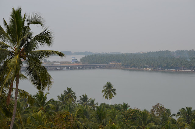 Talangere Railway Bridge seen from Chandragiri Fort, Kasaragod