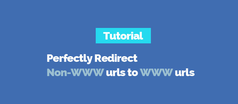 Redirect Non-WWW urls to www