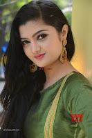 Akshitha cute beauty in Green Salwar at Satya Gang Movie Audio Success meet ~  Exclusive Galleries 021.jpg