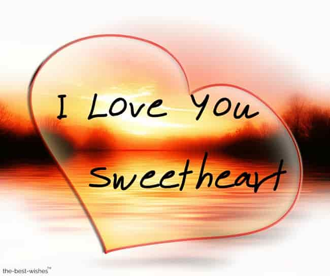 i love you sweetheart with cloud heart