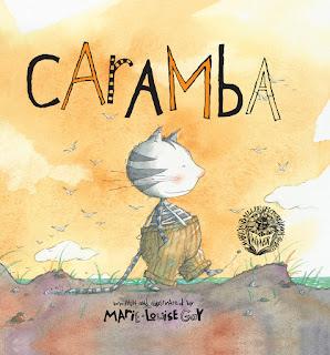 Portada del cuento Caramba ilustrado por la ilustradora canadiense Marie Louise Gay