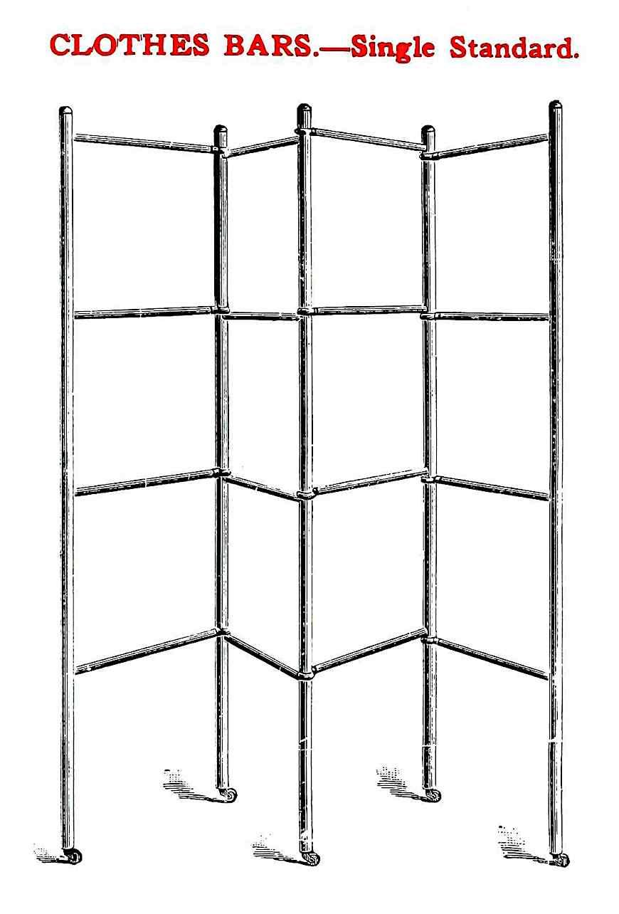 1900 clothes bars, a catalog illustration