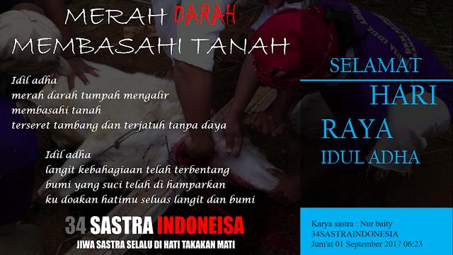 Puisi idil adha terbaru MERAH DARAH MEMBASAHI TANAH | 34 Sastra Indonesia