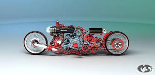 Motocicleta muy creativashecha en 3D max