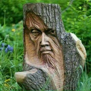 แกะสลักไม้เก่าตกแต่งบ้าน