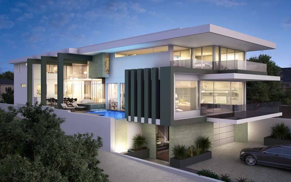 8 Desain Rumah Minimalis Mewah 2 Lantai Paling Kekinian 5000