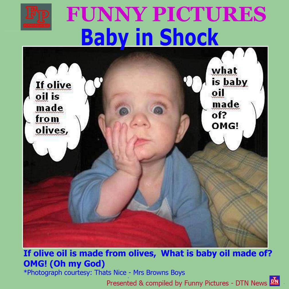 Baby Pictures With Funny Quotes: Pictures Of The Day: Baby In Shock