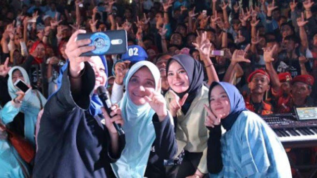 Gandeng Sabyan, Mantan Wagub Jateng Rustriningsih Pilih Menangkan Prabowo-Sandi