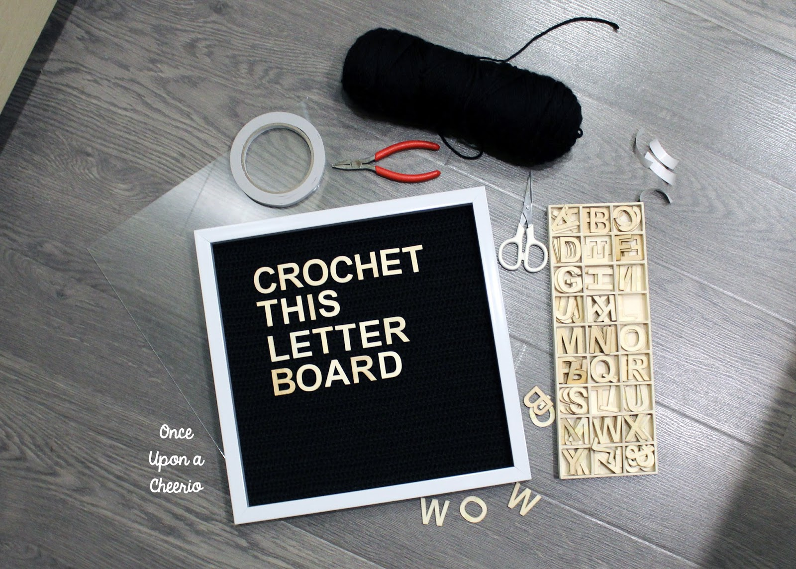 Crochet Letter Board DIY