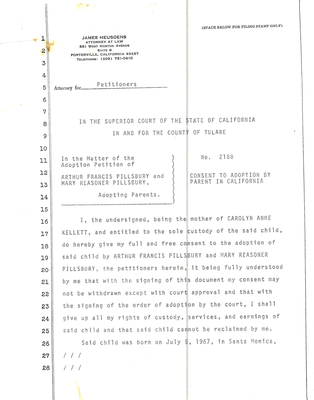 Just The Evidence Consent To Adoption By Melinda Pillsbury Foster