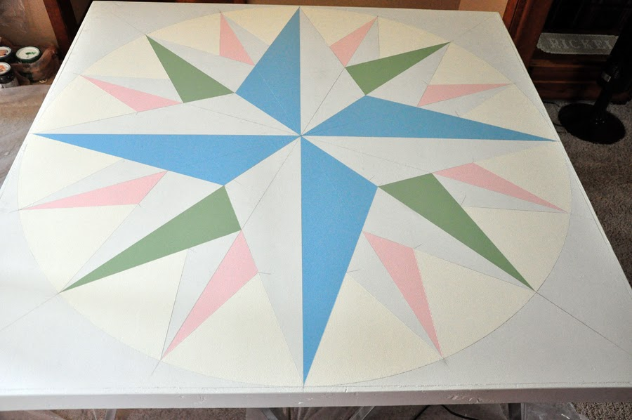 On Quincy Street Barn Quilt 3 Mariner S Compass