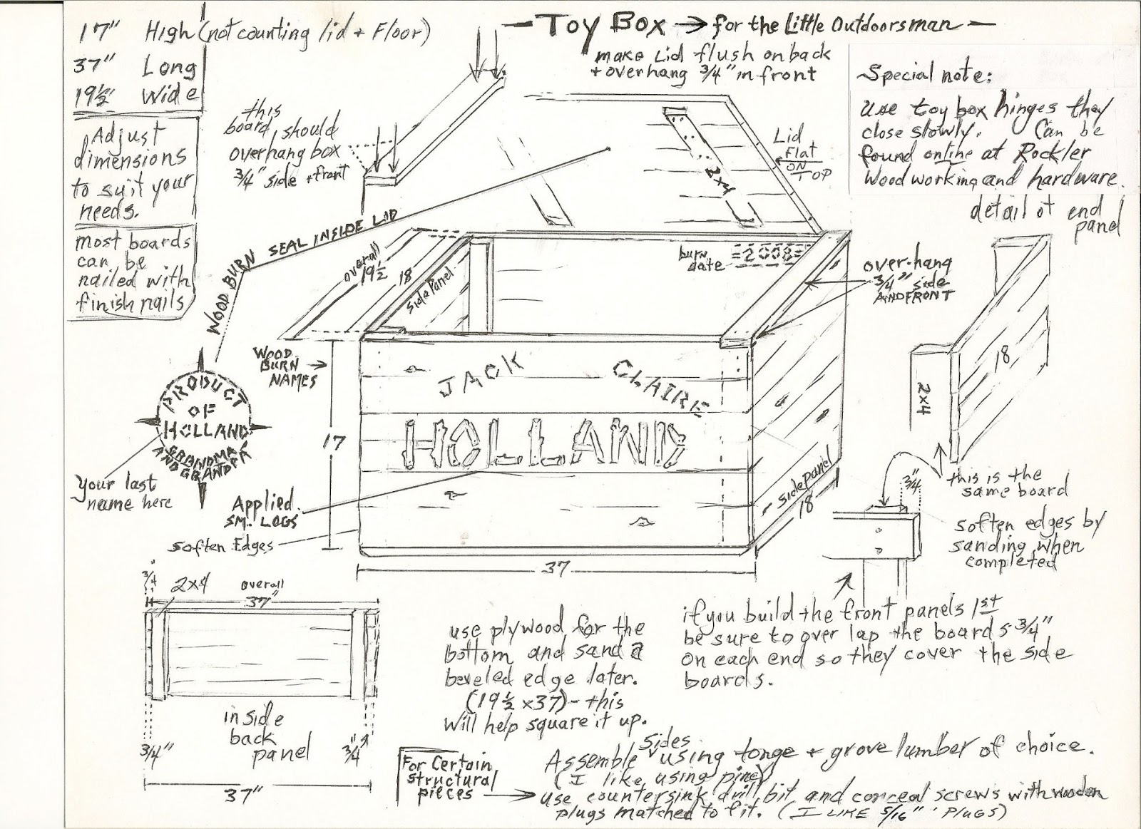 Toy Box Plans With Shelves Woodworking