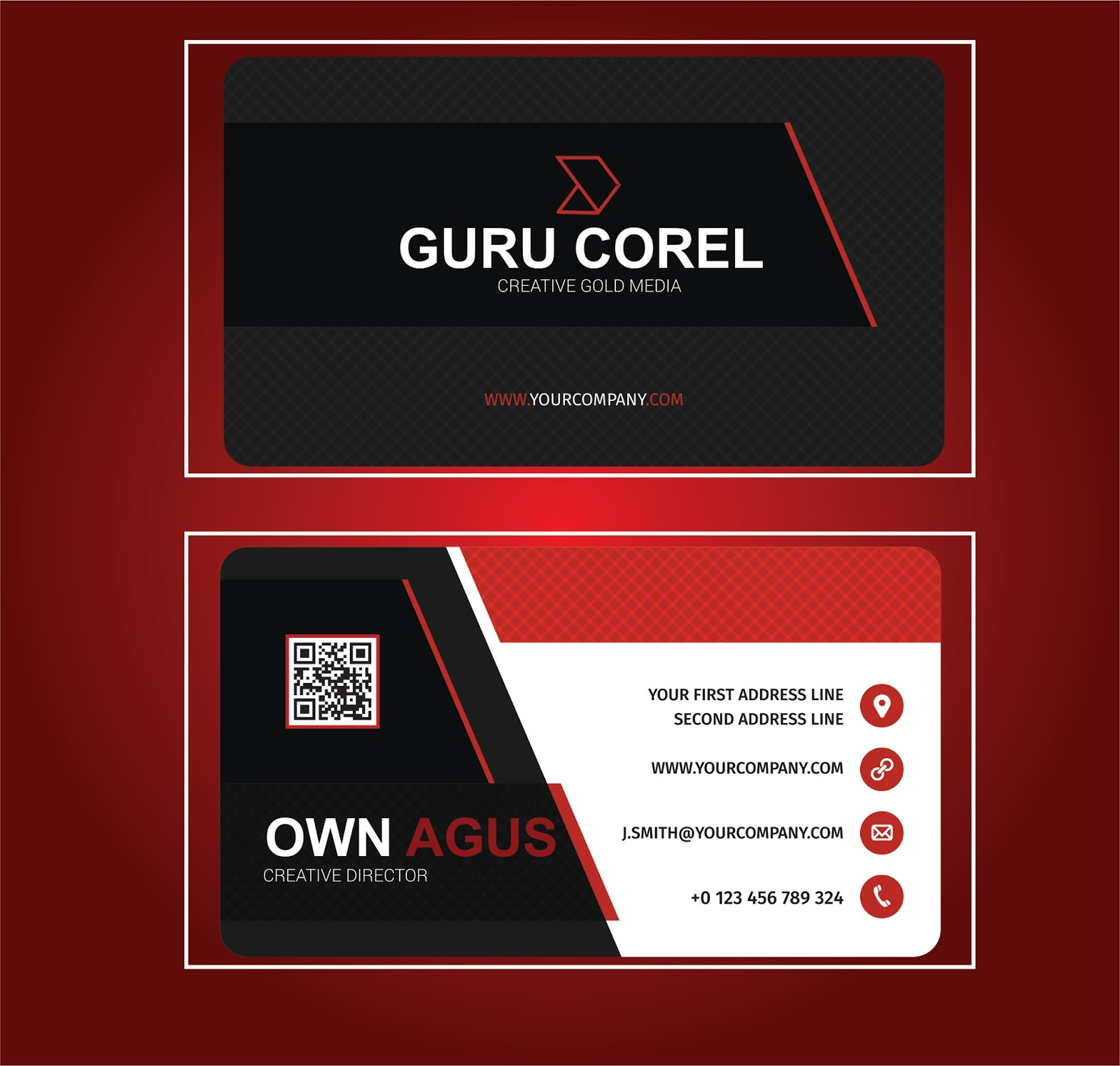 √ corel draw business card template
