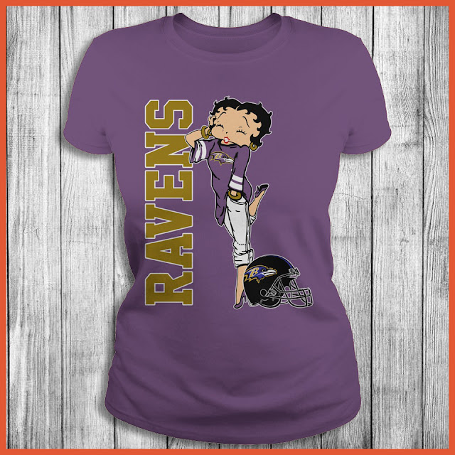 Baltimore Ravens Betty Boops T-Shirt