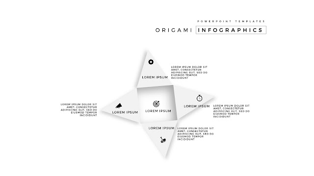 4 Icon options of Abstract Origami Infographics for PowerPoint Templates in white Background Slide 2
