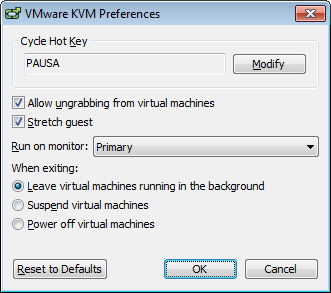 VMWare: VMWare Workstation 10 en modo KVM