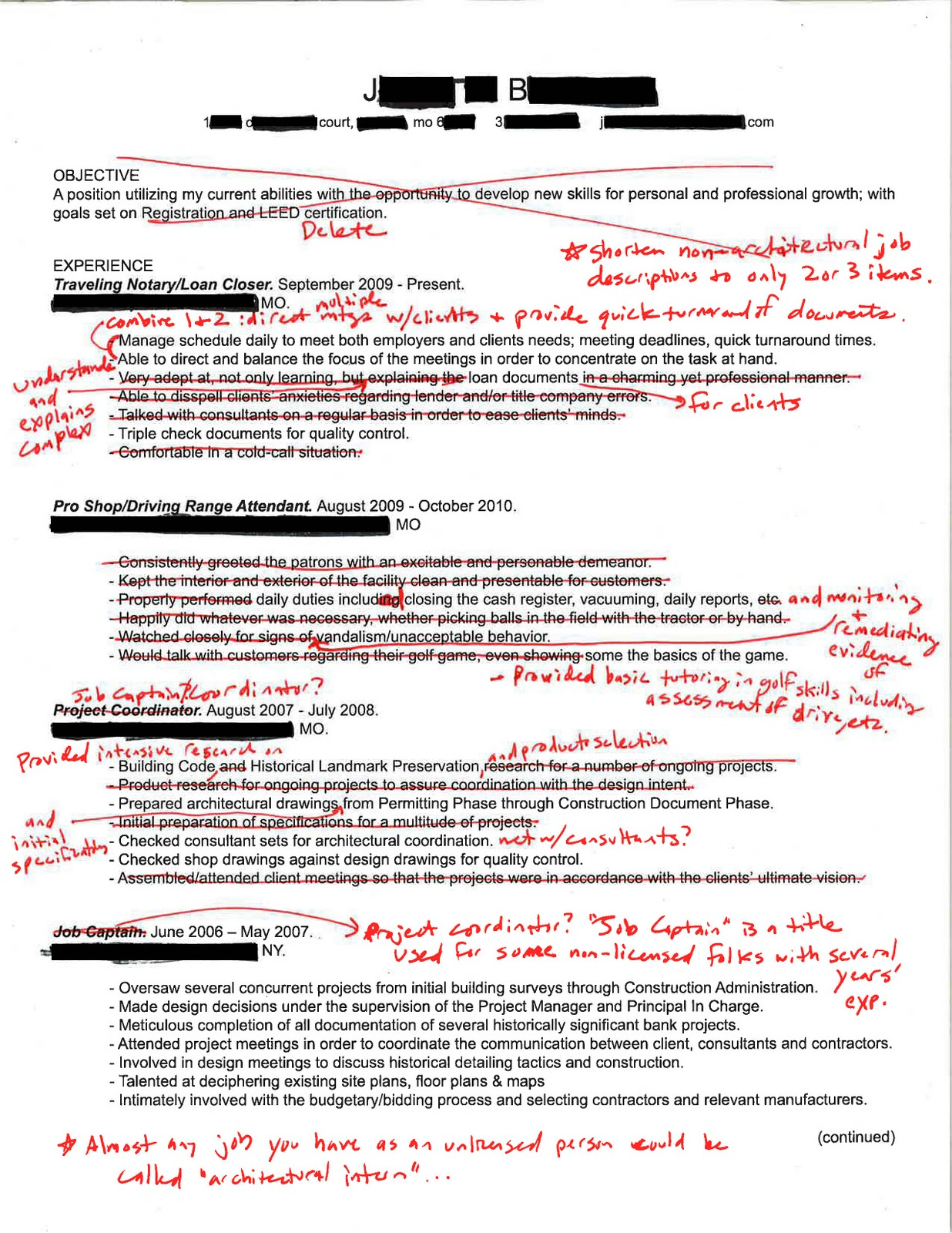 intern 101  redlined resumes  cut it in half and you u0026 39 re there