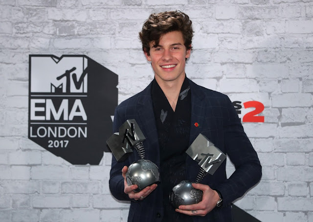 Shawn Mendes eleito Melhor Artista nos MTV EMA 2017
