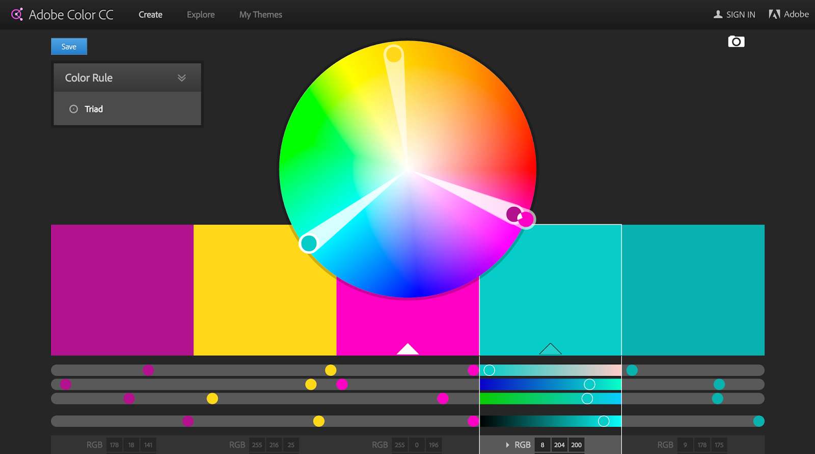 Color wheel online - I Decided That Pink Magenta Would Be The Best Colour To Compliment The Turquoise Strokes