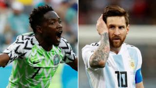 الكل يساعد ميسى والارجنتين لتاهل للدور الثاني من المونديال بعد الفوز على نيجيريا 2-1