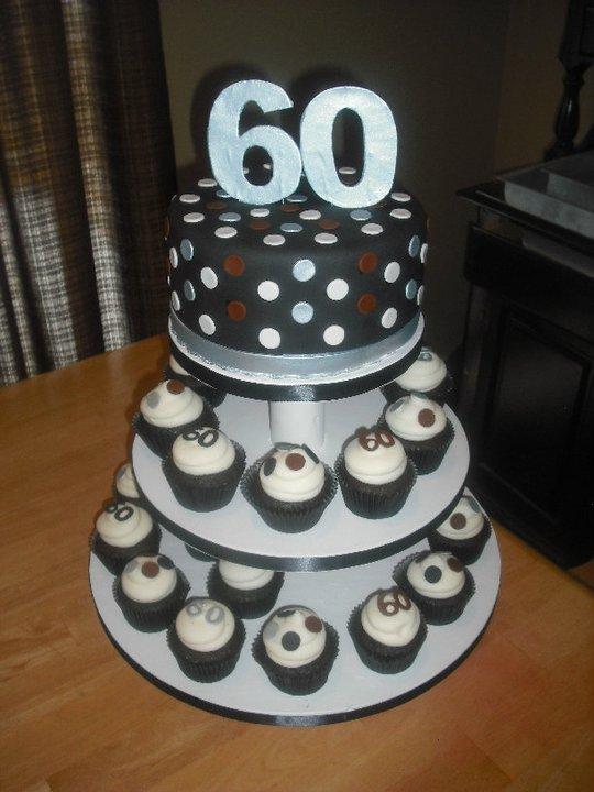Sprinklebelle Cakes 60th Bday Cake Cupcakes