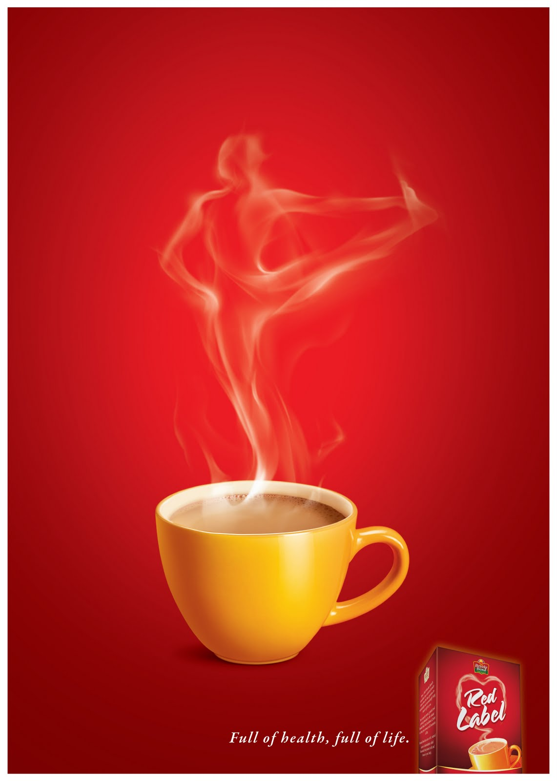 It's just a graphic of Légend Red Label Tea Advertisement 2020