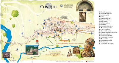 Mapa de Conques