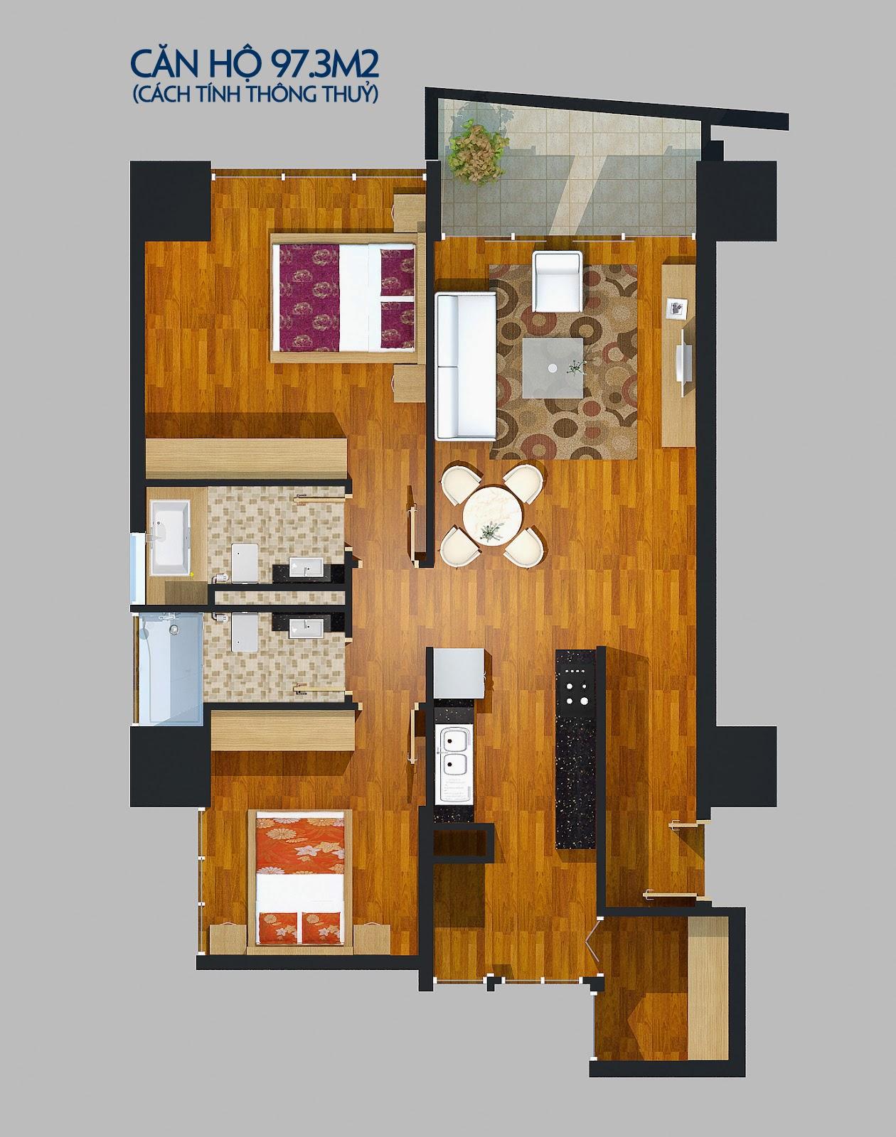 Căn 105 m2