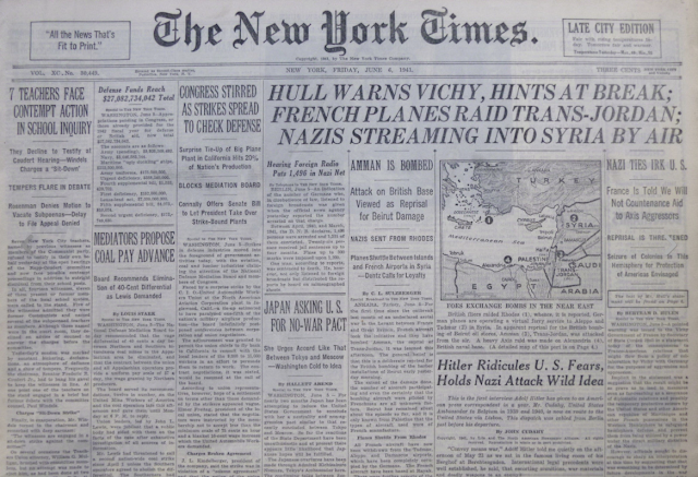 New York Times 6 June 1941 worldwartwo.filminspector.com