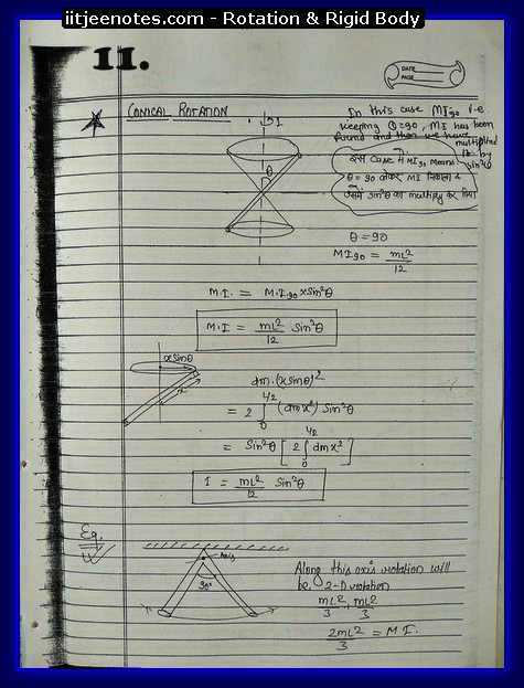 Rotation and Rigid body Notes 1