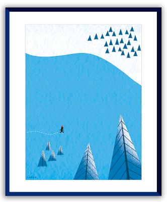Clod illustration seul dans la neige