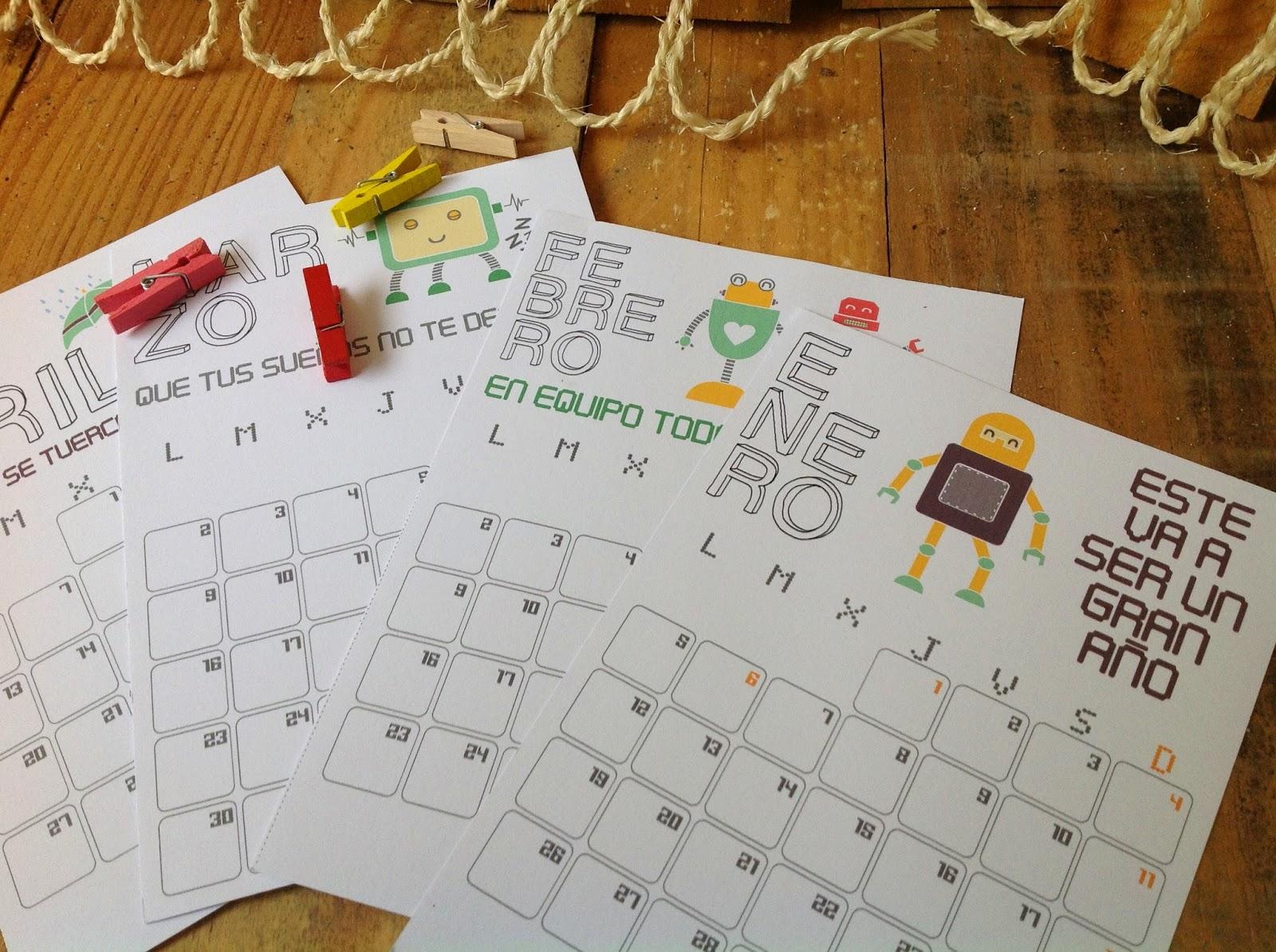 Calendario Acuarela Duck 2015