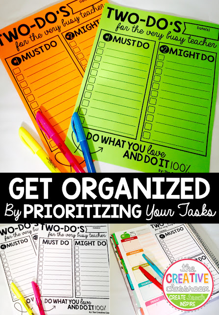 Get organized by prioritizing your tasks into TWO categories- Must Do and Might Do