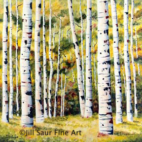 Aspen Tree Art, Aspen Artwork, Colorado Landscape Art, Aspen Painting