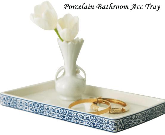 Porcelain Bathroom Counter Tray