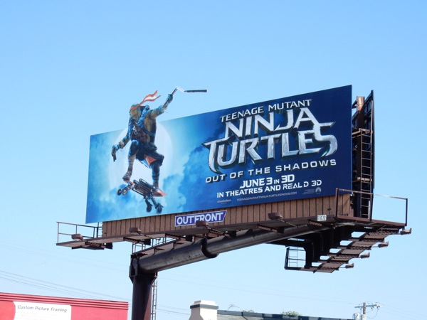 Ninja Turtles Out of the Shadows Michelangelo billboard