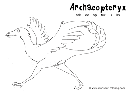 Archaeopteryx Coloring Page With Name