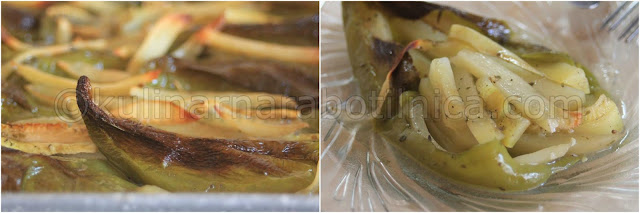 Рецепта за пълнени чушки с картофи и тиквички
