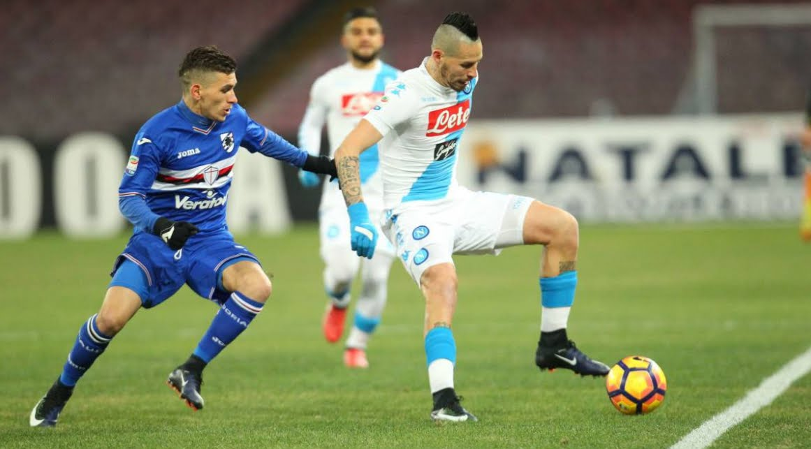 SAMPDORIA-NAPOLI Streaming: info Facebook YouTube, dove vederla Gratis con PC SmartPhone Tablet