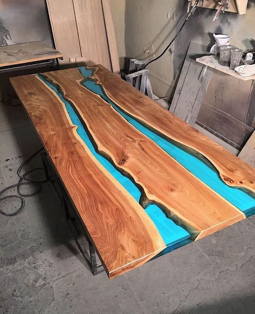 epoxy river table designs, epoxy resin table