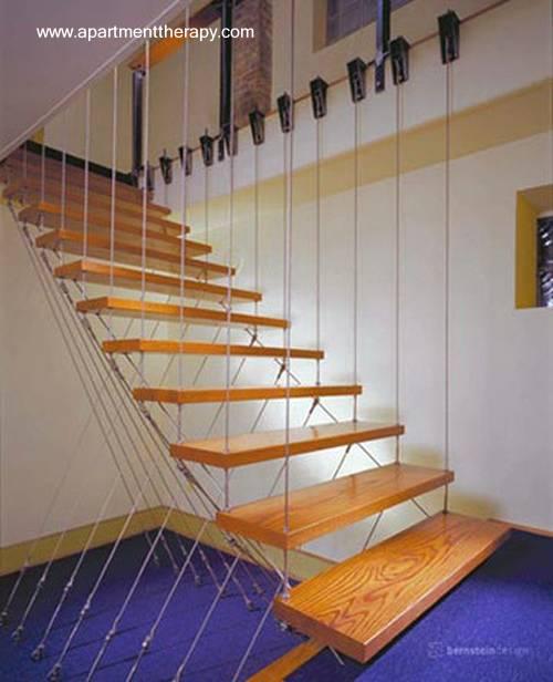 Escalera contemporánea original sin estructura rígida