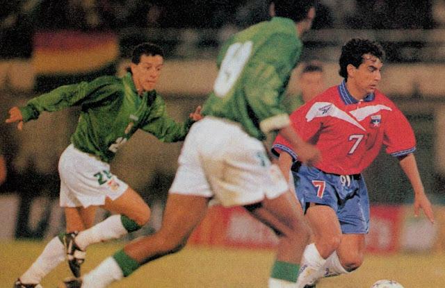 Bolivia y Chile en partido amistoso, 28 de abril de 1999