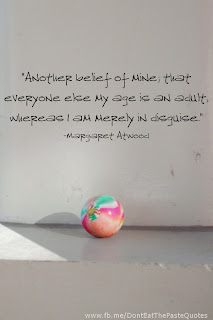 Margaret Atwood Quote with Superball